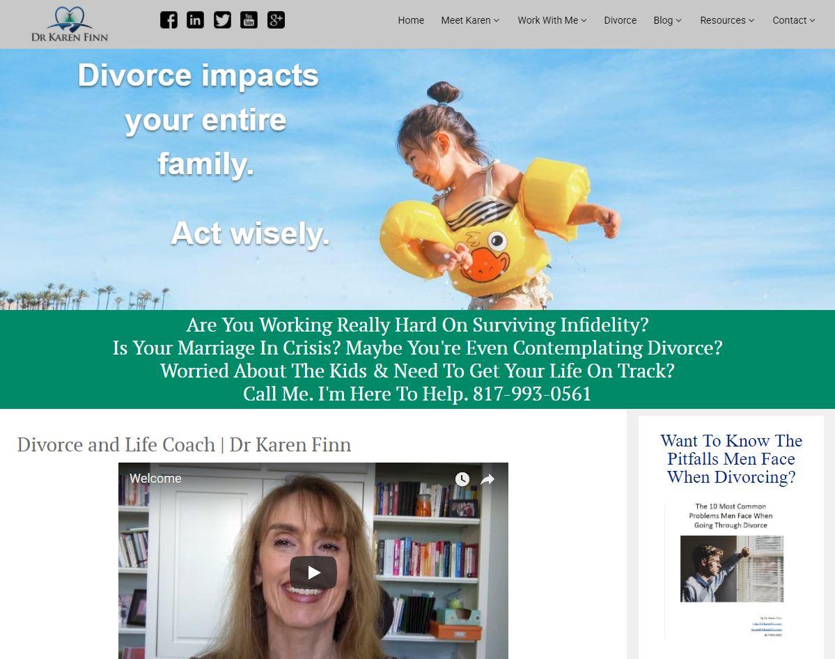 Case study image 2: Karen's rebranded website.